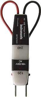 Gardner Bender GET-213HV High Visibility Voltage Tester, Visual Indicators, 100-300 V AC/DC, Insulated Housing & Probes, Red & Black