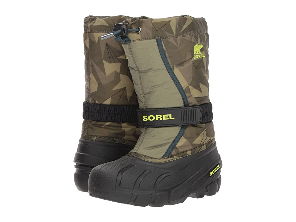SOREL Kids Flurrytm Print (Toddler/Little Kid/Big Kid) (Hiker Green/Black) Boys Shoes