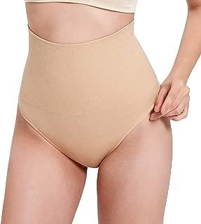 Miureal Women's Seamless Hip Enhancer Stretch High?Waist Control Nylon Soft Corset Panties Shapewear