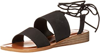 Lucky Brand Women's HADESHA Flat Sandal, Black, 8
