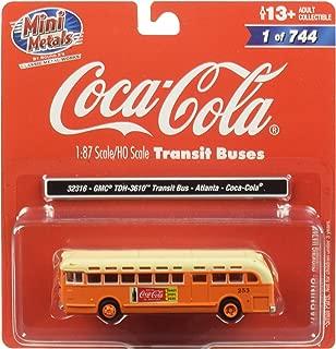 GMC TDH-3610 Transit Bus (Atlanta) Coca Cola Orange with Cream Top 1/87 (HO) Scale Model by Classic Metal Works 32316