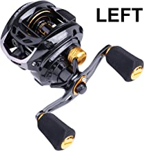 PLUSINNO Elite Hunter Baitcasting Fishing Reel Ultra Smooth 11LB Carbon Fiber Drag, 6.5:1 Gear Ratio,5+ 1 Shielded Ball Bearings, Rubber Handle Knobs