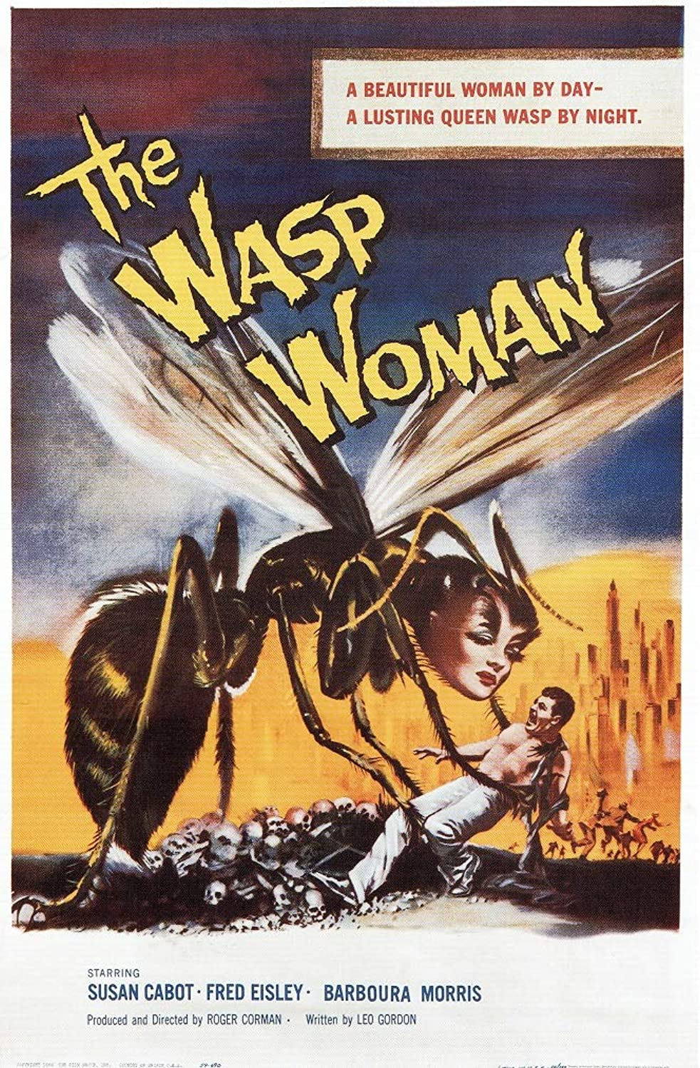 Black Creations The Wasp Woman  1960 Poster Canvas Picture Art Print Premium Quality A0 A1 A2 A3 A4 (A0 Canvas (30 40))