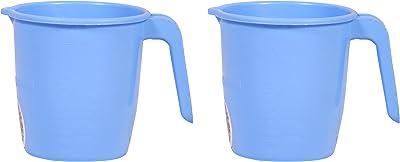 Samruddhi Plastic Soldier Mug, 2-Piece, 750 ml, Blue