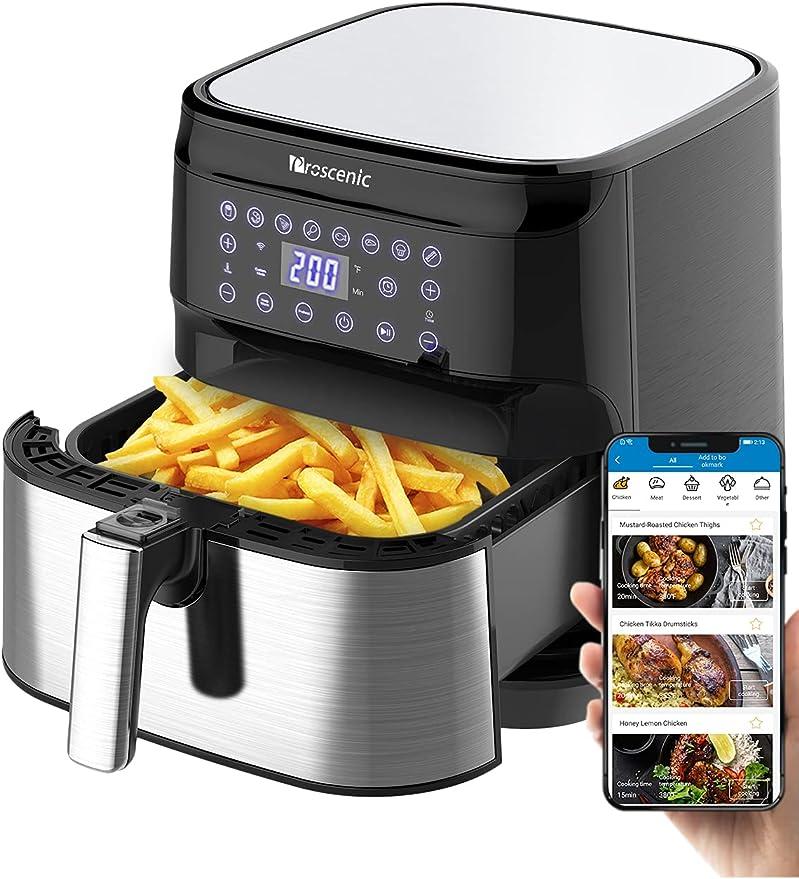 3637 opinioni per Proscenic T21 Friggitrice ad Aria, 5.5L Air Fryer Controllo con App & Alexa e