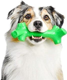 Pet Qwerks Barkbone Mint Flavor Dental Breath Stick Dog Chew Toy - Durable Dog Bones for Aggressive Chewers, Tough Power C...