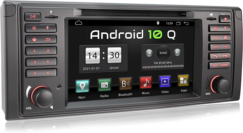 XOMAX XM-71BA Radio de Coche con Android 10 Adecuado para BMW I Quad Core, 2GB RAM, 32GB ROM I GPS I Soporte WiFi, 3G, 4G, Dab+, OBD2 I Bluetooth I 7