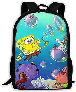 LIUYAN Custom Spongebob Squarepants Casual Backpack School Bag Travel Daypack Gift