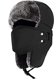 Winter Hats for Men and Women Trooper Hunting Hat Ushanka Hat with Ear Flaps Windproof Warm Hat