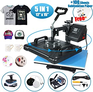 HikeGeek 5 in 1 Heat Press Machine 12