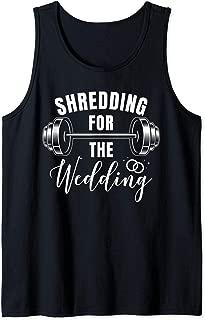 Shredding Sweating Wedding Gym Workout Fitness Tank Top
