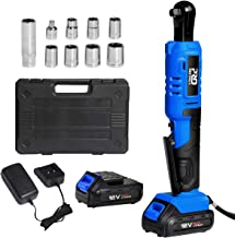 """Cordless 3/8"""" Ratchet Wrench Set with 2PCS 2000mAh Lithium-Ion Batteries and.."""