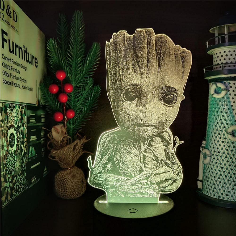 Marvel of The Galaxy Groot 3D Changing LAMP Anime Choice Denver Mall Th Nightlights