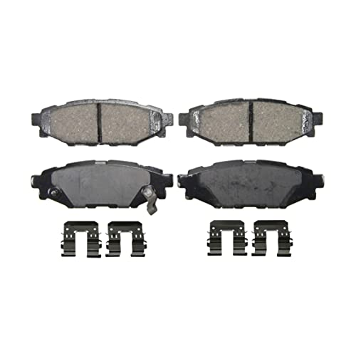 Wagner QuickStop ZD1114 Ceramic Disc Pad Set Includes Pad Installation Hardware, Rear