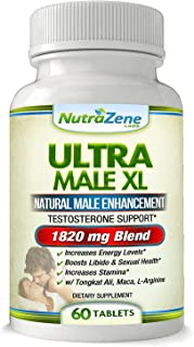 Natural Testosterone Booster & Male Enhancement Supplement -★Huge Sale★- w/Tribulus,Tongkat Ali, Maca & Arginine – Promotes Increased Energy, Stamina, Weight Loss & Muscle Growth -60ct