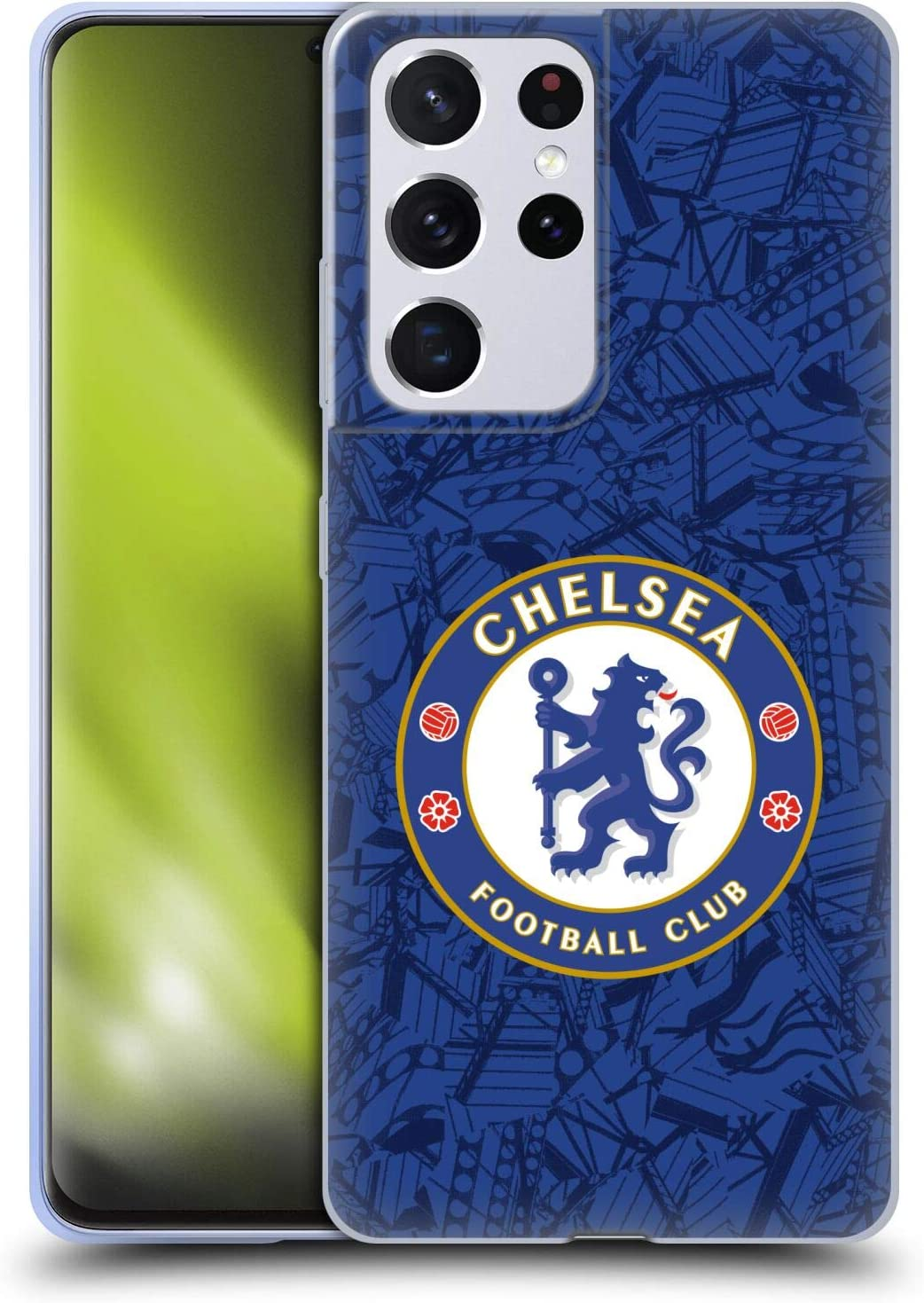Head Case Designs Officially Licensed Chelsea Football Club Home 2019/20 Kit Soft Gel Case Compatible with Samsung Galaxy S21 Ultra 5G
