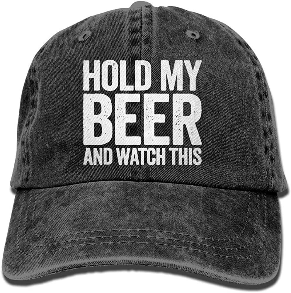 Funny Hold My Beer and Watch This Unisex Baseball Hat Cowboy Cap Sun Hats Trucker Hats