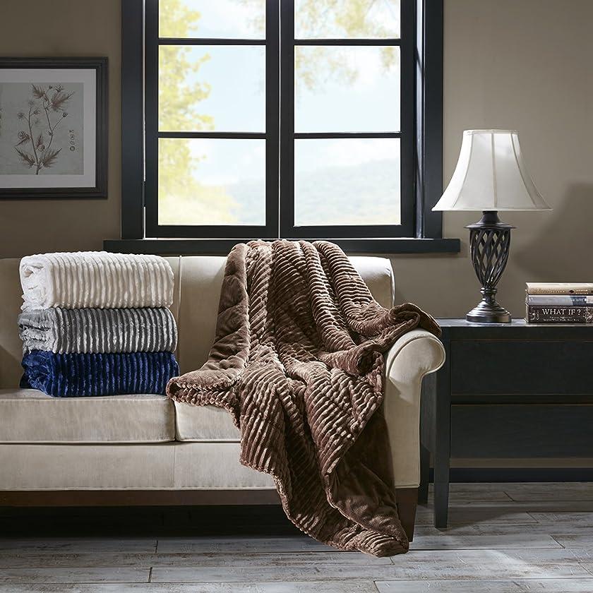 Premier Comfort Parker Luxury Corduroy Plush Down Alternative Throw Brown 60x70    Premium Soft Cozy Lightweight Corduroy For Bed, Couch or Sofa