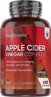 Apple Cider Vinegar Complex With Mother - 180 kapsułek wegańskich (3 Month Supply) Pure Unfiltered High Strength Apple Cid...