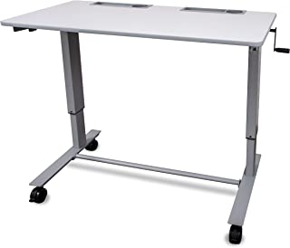 Crank Adjustable-Height Two-Person Student Desk/Classroom Desk (48