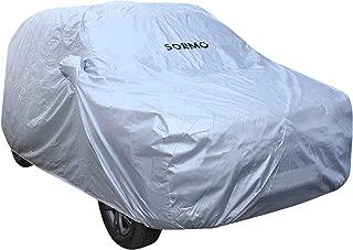 AmazonBrand - Solimo Maruti Vitara Brezza Water Resistant Car Cover (Silver)