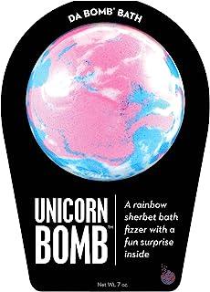Da Bomb Unicorn Bomb, Pink/Blue/White, Rainbow Sherbet, 7 Ounce