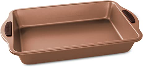 "Nordic Ware 48543 Freshly Baked Rectangular Cake Pan, 9"" x 13"", Copper"