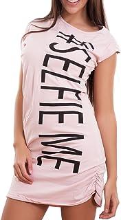 577542b364 Toocool - Vestito Donna Miniabito maximaglia Tubino Scritte Asimmetrico Sexy  Nuovo CJ-2008