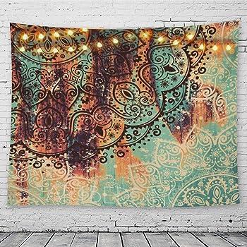 GeeRic Tapiz Pared, Tapiz de Mandala tapices de Pared de algodón Indio, Colcha de pícnic, Manta de Pared, Tapices Decorativos 150 × 230 cm: Amazon.es: Hogar