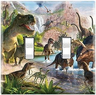 Graphics Wallplates - Dinosaurs Majungasaurus Tyrannosaurus - Double Toggle Wall Plate Cover