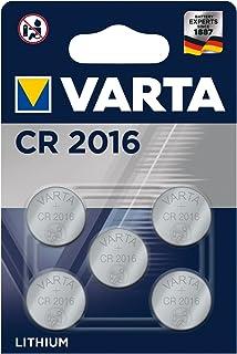 VARTA Batterien Electronics CR2016 Lithium Knopfzelle 3V Batterie 5er Pack Knopfzellen in Original 5er Blisterverpackung