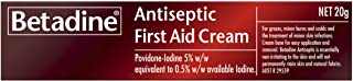 Betadine First Aid Cream - Treatment of grazes - Treatment of minor infections - Easy application and removal, 20g