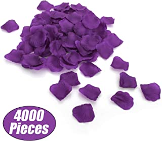 Aspire 4000 Pieces Silk Rose Petals, Artificial Flower Confetti for Wedding Party Gift Decoration-Dark Purple
