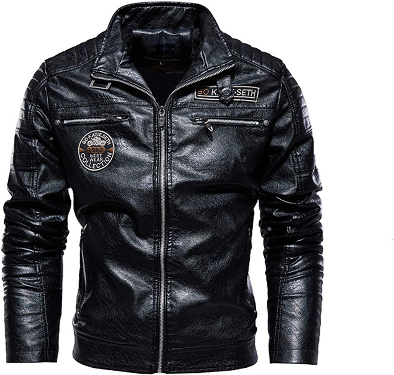 Chaquetas de cuero de los hombres trajes de la motocicleta y abrigos de los hombres del cuero del abrigos de la PU