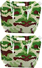 2-Pack 1 Gallon Collapsible Water Container - Foldable Plastic Water Bag Carrier, BPA Free, Portable Water Storage Tank for Camping, Outdoor, Hiking, cammo