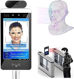 WFGZQ Sistema di Misurazione della Temperatura con Riconoscimento Facciale Intelligente Schermo Intero LCD da 8 Pollici, M...