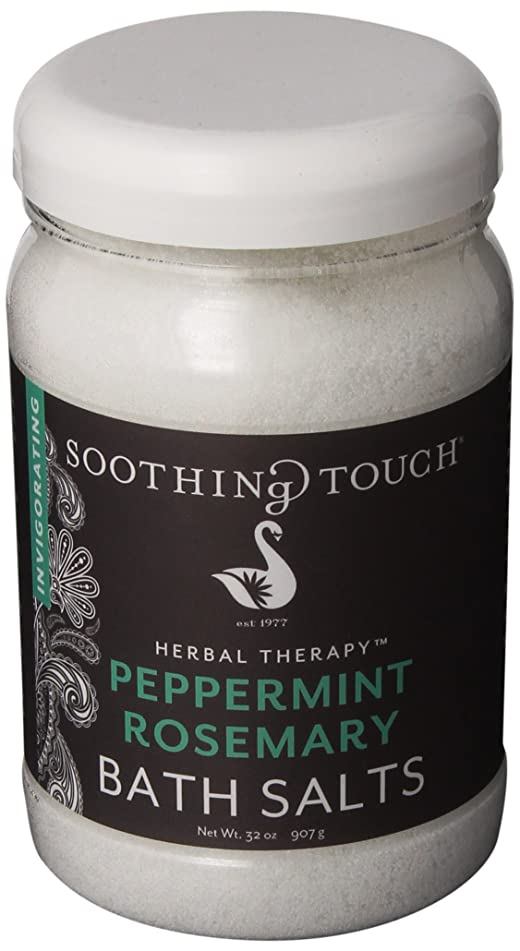 Soothing Touch W67369PR32 Bath Salts Peppermint Rosemary, 32-Ounce