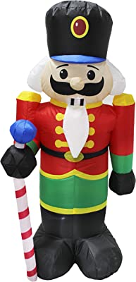 National Tree Company 4 ft. Inflatable Holiday Nutcracker, Red