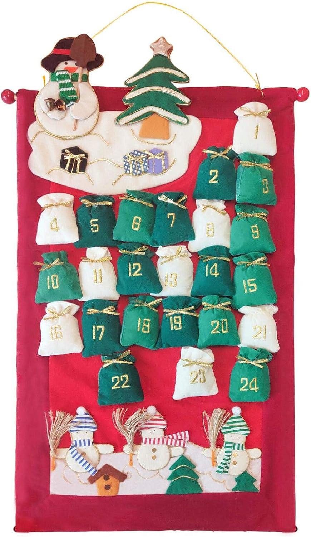 Christmas Advent Calendar Charlotte Mall 2020 Felt Max 59% OFF 26'' to Countdown