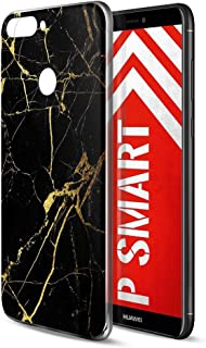 2604b847bab Funda Huawei P Smart, Eouine Cárcasa Silicona 3d Suave Gel TPU Transparente  con Dibujos Marmol
