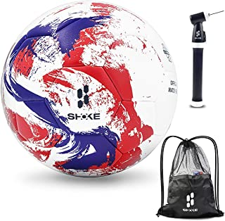 SHOKE Soccer Ball Size 5 FIFA Level Performance Ball, Thermal-Bonding Hold Air Water-Resistant, Rebound Height 51.18'' -53.15''