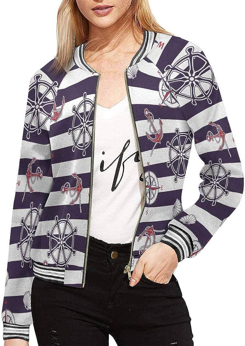 InterestPrint Women's Floral Ditsy Pattern Jacket Zipper Coat Outwear