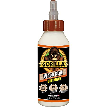 Gorilla Ultimate Waterproof Wood Glue, 8 ounce, Natural, (Pack of 1)
