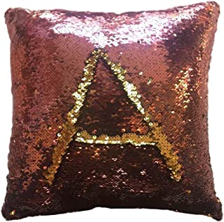 Musommmer Home Square Pillowslip Two-Sided Double Color Glitter Sequins Throw Pillow Case Cafe Home Decor Cushion