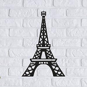 Metal Eiffel Tower Black Metal Tower Statue Decor Paris Eiffel Tower Decoration French Eiffel Tower Stand Holder Party Decoration for Office Living Room Bedroom, 15.7 x 10.3 Inch
