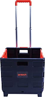 Amtech S5650 Folding Boot Cart, Telescopic Handle Foldable Trolley Cart on Wheels