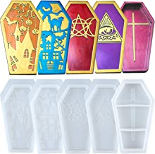 Coffin Epoxy Resin Silicone Moulds with Lids for Halloween, Jewellery Stoarge Box 5-in-Set