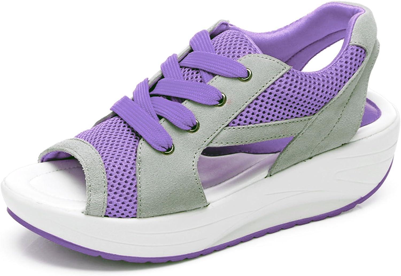 37a03befde40a Webb Perkin Women Fashion Athletic Lace Mesh Open Peep Toe shoes Up ...