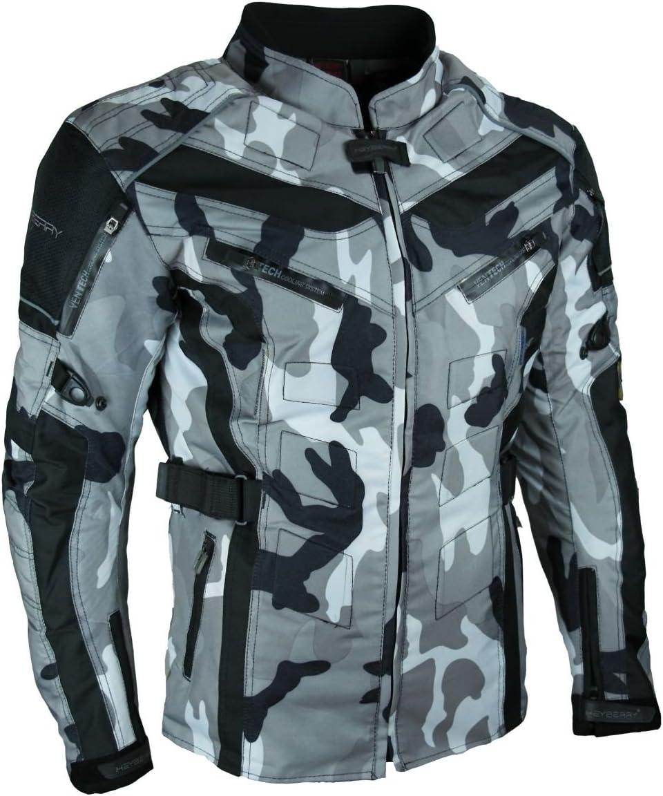 Heyberry Touren Motorrad Jacke Motorradjacke Textil Camouflage Weiss Gr L Auto