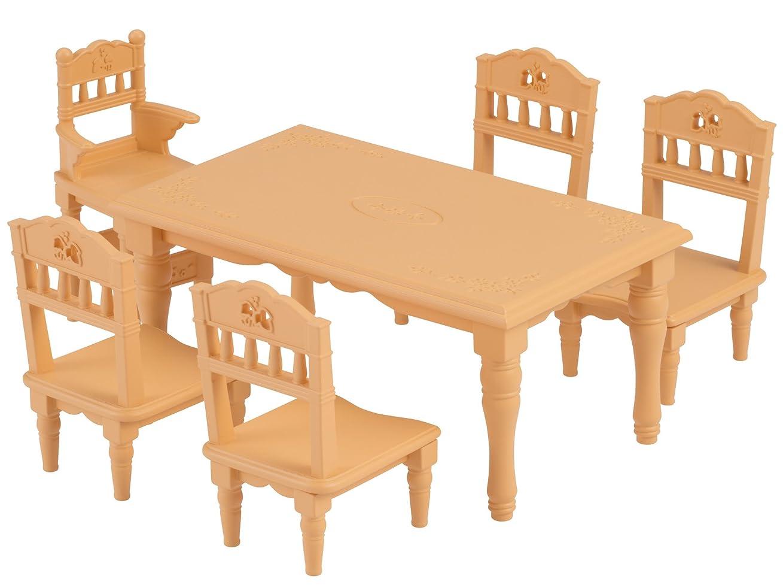 熟読穿孔するでるシルバニアファミリー 家具 ダイニングテーブルセット カ-421